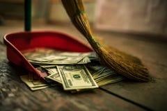 作为垃圾的金钱 库存图片