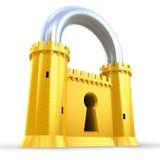 作为堡垒强大挂锁 库存照片