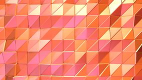 作为好的背景的抽象简单的桃红色橙色低多3D表面 软的几何低多行动背景转移 向量例证