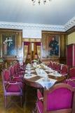 作为客厅的小的餐厅用于客人和王子` s餐厅 图库摄影