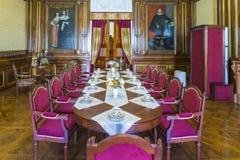 作为客厅的小的餐厅用于客人和王子` s餐厅 库存图片