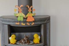 作为室内装璜的复活节兔子 免版税库存图片