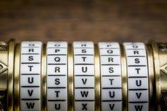 作为密码的信任词 免版税库存图片