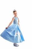 作为小公主的女孩 库存照片