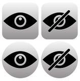 作为展示,皮,可看见,无形,公开,私有i的眼睛标志 库存例证