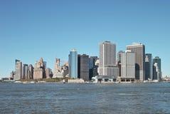 作为州长海岛降低s被看见的曼哈顿 库存照片