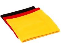 作为德国旗子的开士米围巾 图库摄影