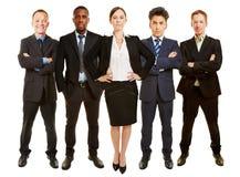 作为总经理的女实业家有企业队的 免版税图库摄影