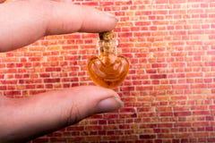 作为情人节爱概念的心形的瓶 免版税库存照片