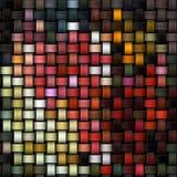 作为抽象帆布背景的被编织的五颜六色的纹理 免版税库存照片