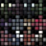 作为抽象帆布背景的被编织的五颜六色的纹理 图库摄影