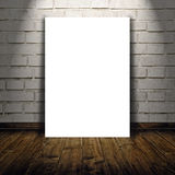 作为拷贝空间模板的空白的海报您的设计的 库存照片