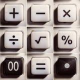 作为按钮的数学运算 免版税库存照片