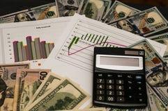 作为收入,一个稳定的财政企业概念的储款 数学是在事务的成功 免版税库存图片