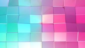 作为数学形象化的抽象简单的蓝色桃红色低多3D表面 软的几何低多行动背景 皇族释放例证