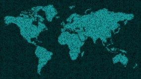 作为数据的地球-世界` s国家的地图以数字形式 免版税库存图片