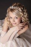 作为新娘加工好的妇女 图库摄影