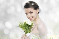 作为新娘的Beautifull少妇 库存图片