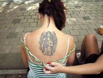 作为方式纹身花刺 图库摄影