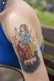作为方式纹身花刺 库存照片