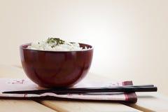 作为日本全国食物的米 库存图片
