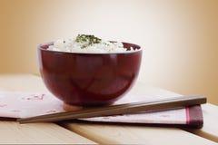 作为日本全国食物的米 免版税库存照片