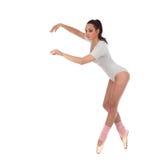作为有美丽的一位芭蕾舞女演员打扮的女孩舞蹈家 免版税库存图片