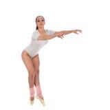 作为有美好的构成的一位芭蕾舞女演员打扮的女孩舞蹈家 图库摄影