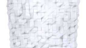 作为未来派安心的简单的低多3D表面 纯净的白色灰色多角形软的几何低多背景  充分4K 库存例证