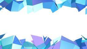 作为未来派背景的抽象简单的蓝色紫罗兰色低多3D分裂表面 软的几何低多行动 向量例证