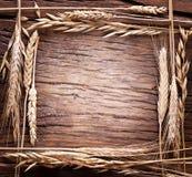 作为框架被做的麦子的耳朵。 免版税图库摄影