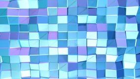 作为梦想背景的抽象简单的蓝色紫罗兰色低多3D表面 软的几何低多行动背景  库存例证