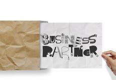 作为概念的商务伙伴 免版税库存照片
