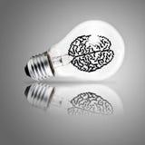 作为概念的电灯泡 库存照片