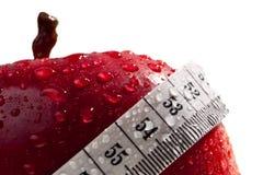 作为概念饮食健康红色的苹果 免版税图库摄影