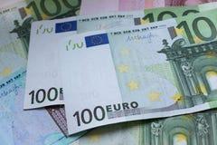 作为欧洲背景的钞票 免版税库存图片