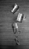 作为残破的玻璃垫脚石 免版税图库摄影