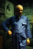 作为汉尼拔・莱克特蜡雕象的安东尼霍普金斯 免版税图库摄影