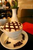 作为热奶咖啡被计时的正方形 免版税库存图片