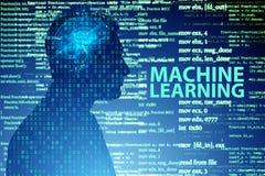 作为现代技术的机器学习概念 免版税图库摄影
