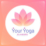 作为瑜伽的标志的莲花 免版税库存照片