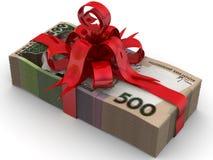 作为礼品货币 库存例证