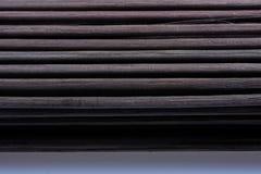 作为秸杆摘要纹理的竹席子 免版税库存图片