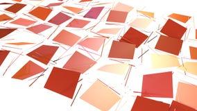 作为简单的背景的抽象简单的桃红色橙色低多3D表面 软的几何低多行动背景  向量例证