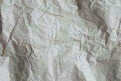 作为纹理或背景,拷贝空间的被弄皱的纸 免版税库存照片