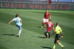 作为罗马对佩斯卡拉(1 :1)橄榄球赛 免版税图库摄影