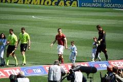 作为罗马对佩斯卡拉(1 :1)橄榄球赛 库存图片