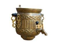 作为老俄国式茶炊盥洗盆 免版税图库摄影