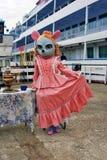 作为老鼠打扮的女演员 免版税库存照片