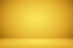 作为背景、布局和介绍的豪华金演播室井用途 免版税库存照片